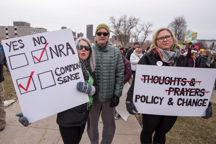photograph of NRA protesters