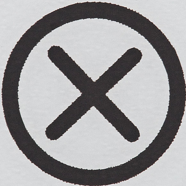 close-up image of cancel icon