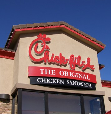 photograph of Chick-fil-a storefornt