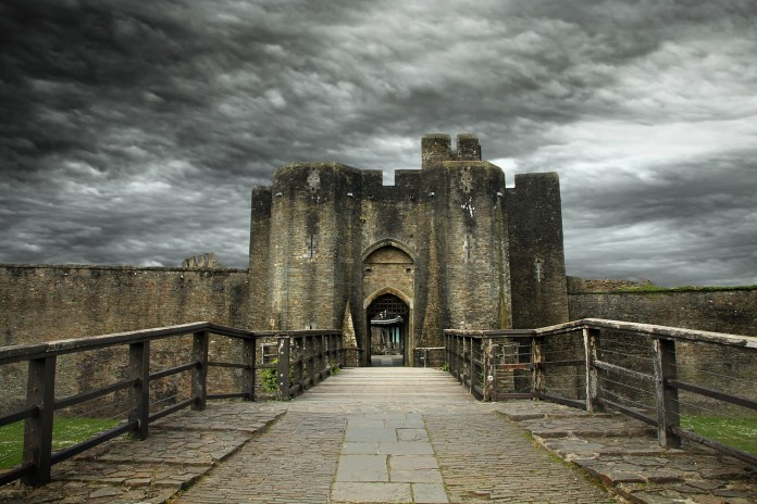 photograph of entrance to a castle
