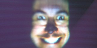computer image of a 3D face scan