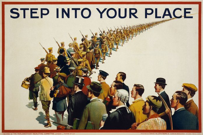 image of British WWII enlistment poster