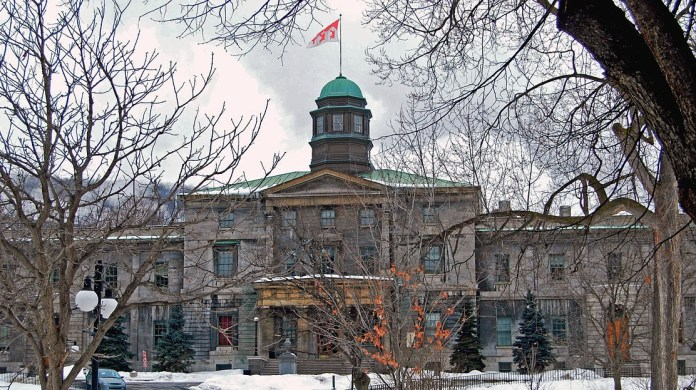 photograph of campus building at McGill University