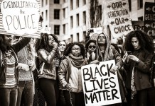 photograph of Black Lives Matter demonstration