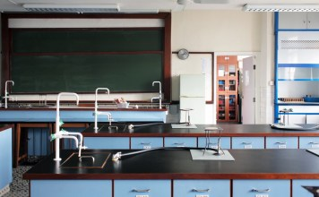 photograph of middle school science clasroom
