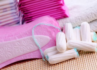 collection of feminine hygeine products