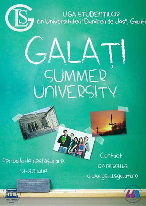 Galati Summer University