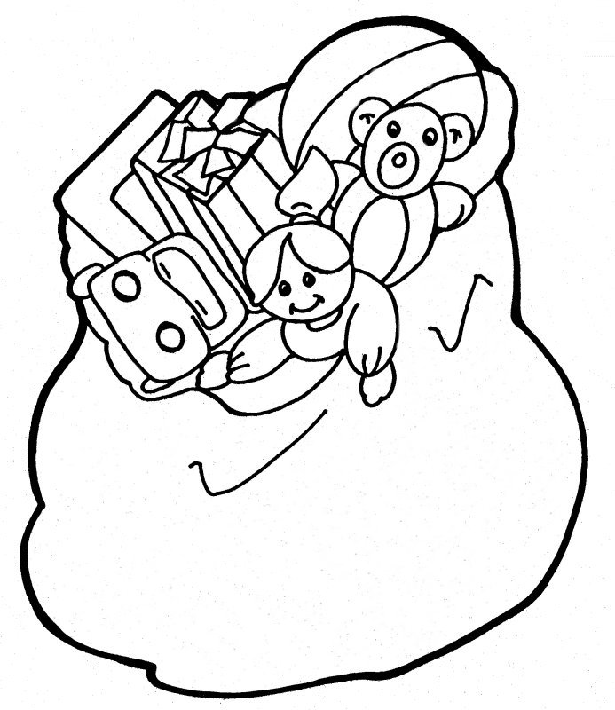 antas sack colouring pages