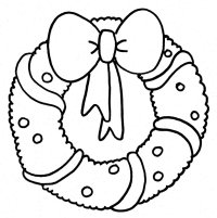 Wreath - Free Coloring Pages