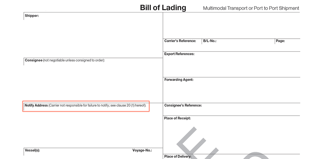 blank bill of lading forms