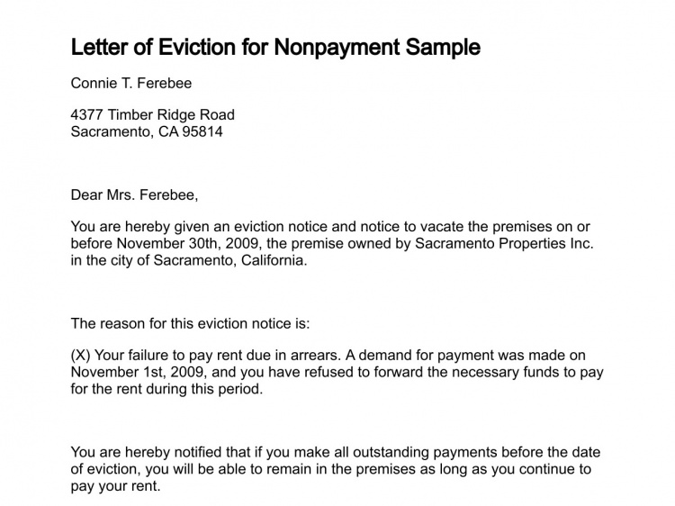 Eviction Letter Real Estate Forms