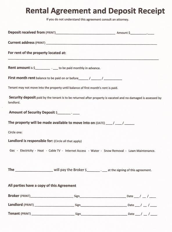 Free Printable Rental Agreements  Real Estate Forms