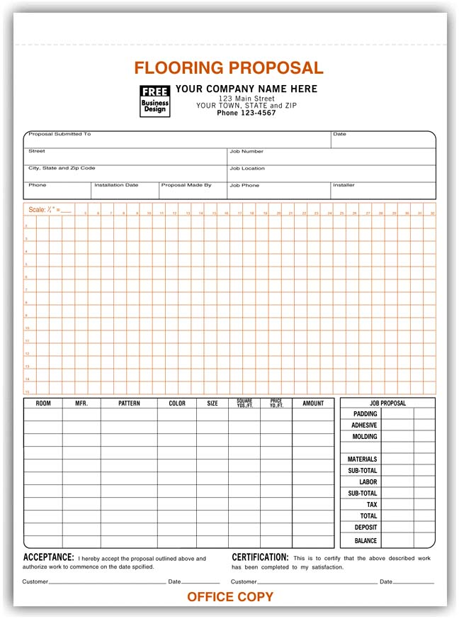 Proposal Forms Acceptance Forms Contractor Forms Print Forms