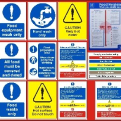 Kitchen Signs For Work Waste Basket Permit To Sign Ptd119 Health And Safety Posters Catering Starter Pack