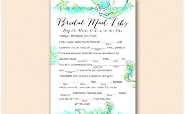 Mermaid Bridal Shower Game Printable Printabell Express