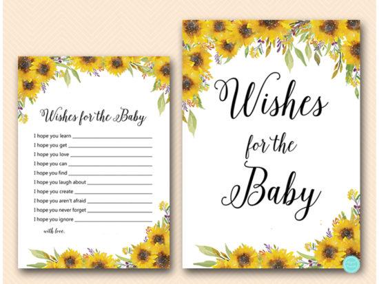 Summer Sunflower Baby Shower Games Activities Printabell Express