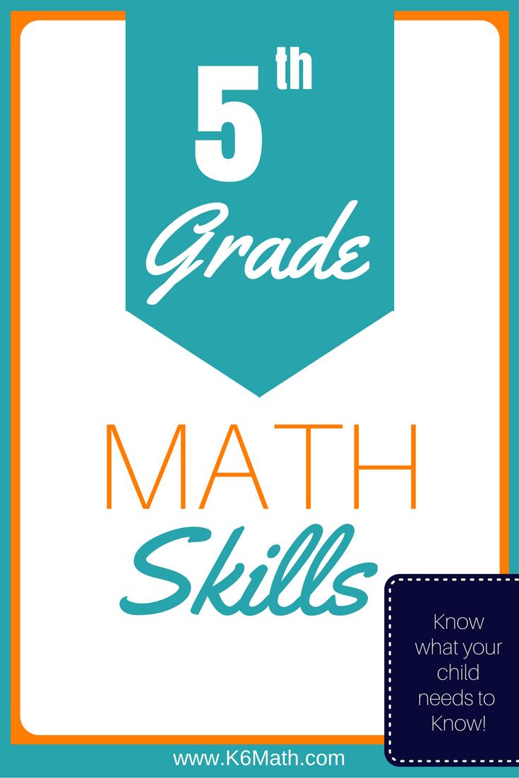 medium resolution of 5th Grade Skills