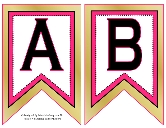 Small Swallowtail Printable Banner Letters A Z Numbers 0