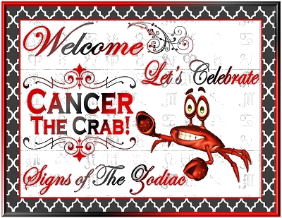 Cancer Zodiac Printable Party Decorations Astrology Sign