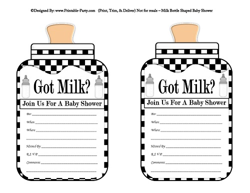 Black And White Baby Shower Games Printable