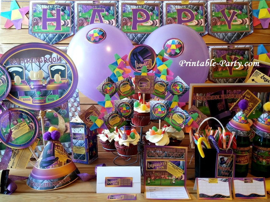 Chocolate Factory Party Supplies Chocolate Factory Theme