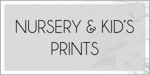 Nursery & Kid's Room Prints