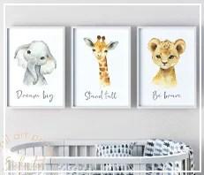 Safari Animal Nursery Prints