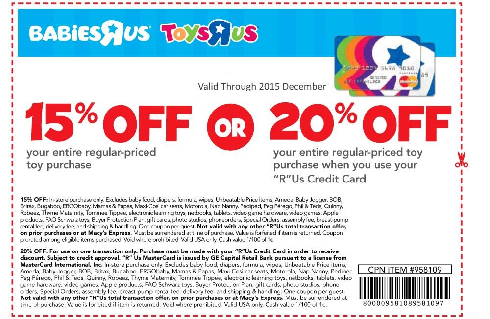 Toys R Us 20 Coupon Dec 2013