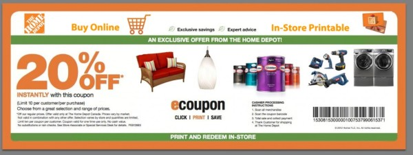 Internet Coupons For Home Depot | Printable Coupons Online