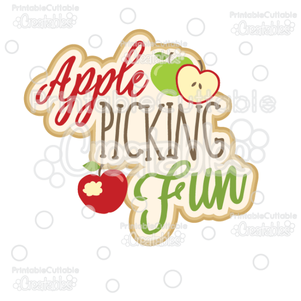 apple picking svg cut file & clipart