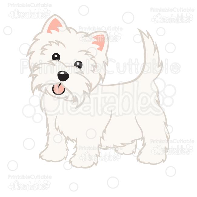 Cute Western Highland Terrier Dog SVG Cut File & Clipart