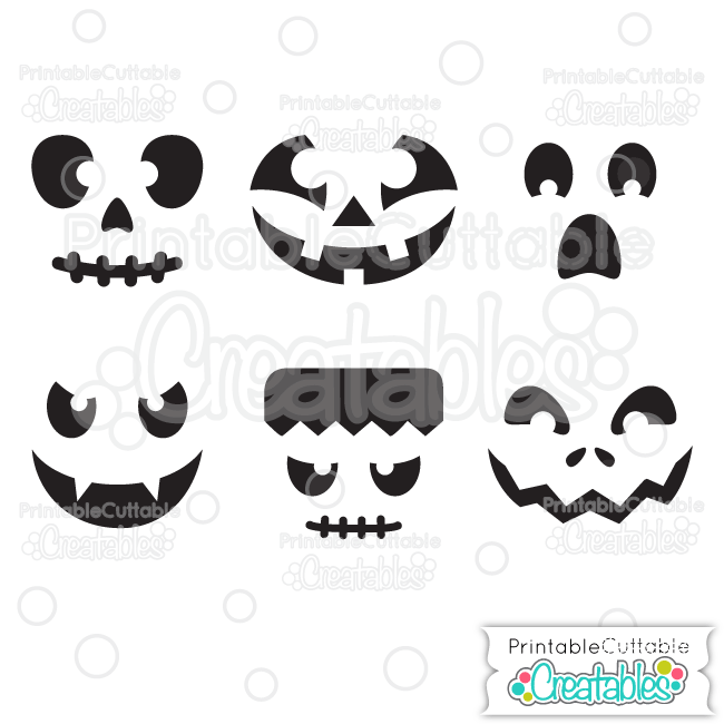 Download Halloween Faces Pumpkin Carving Stencils Free SVG Files ...