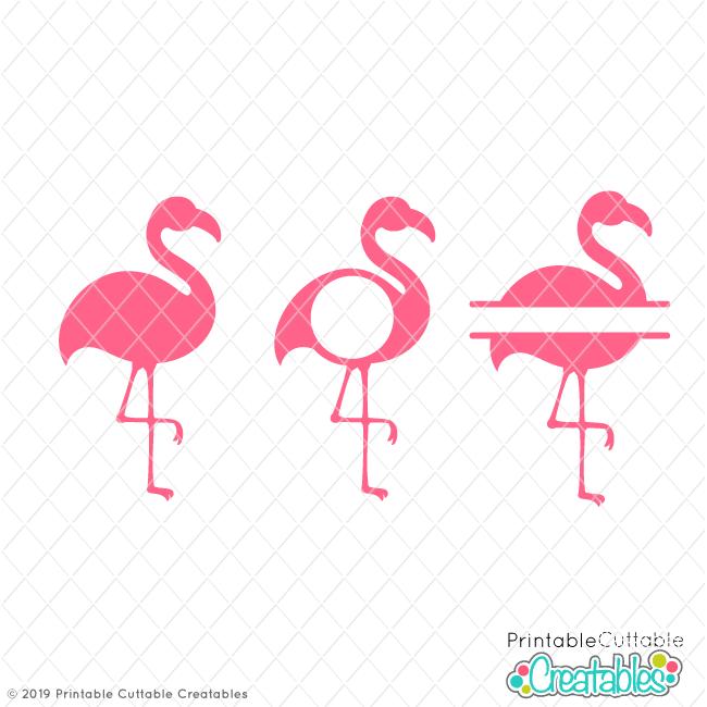 free flamingo monogram frames