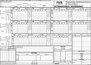 Volleyball Scorebook Printable