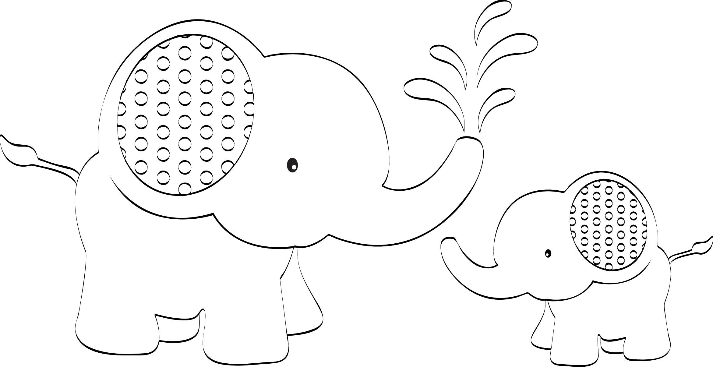 6 Best Images Of Elephant Outline Printable