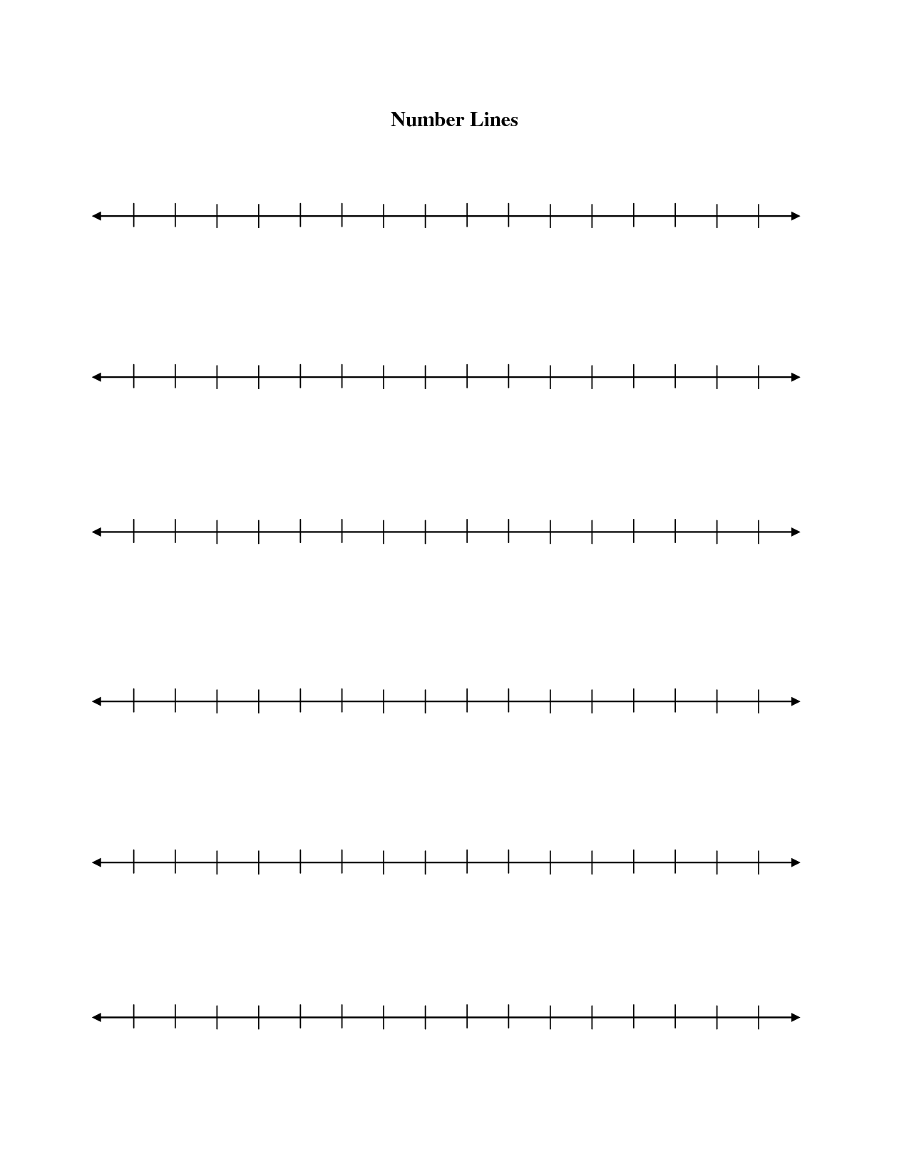 7 Best Images Of Printable Number Line Template