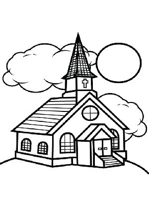 4 Best Images of Printable Church Pictures To Color