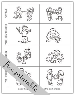 8 Best Images Of Making Good Choices Printable Cards