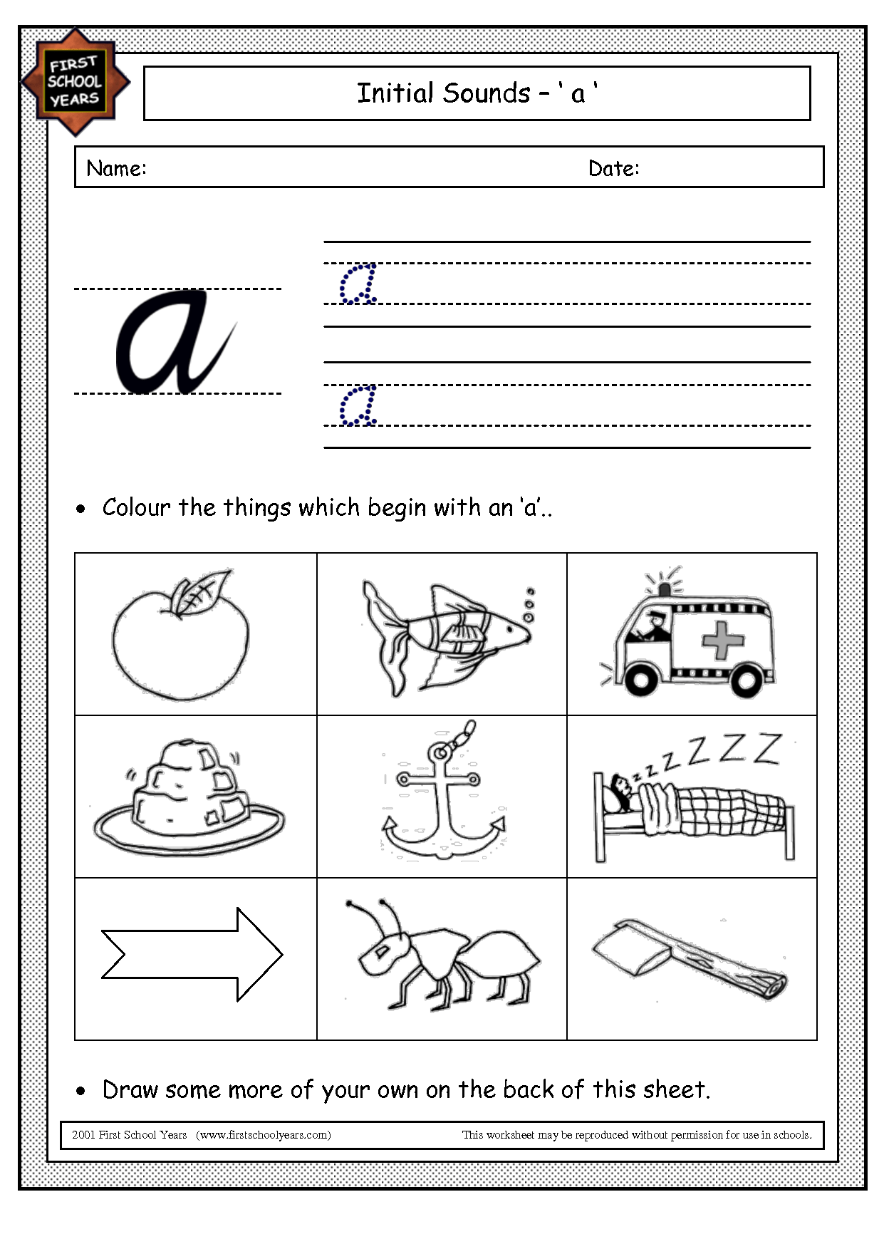 3 Best Images Of Printable Phonics Worksheets Letter A
