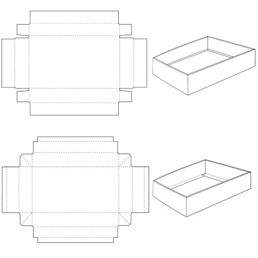 5 Best Images of Printable Box Template With Lid
