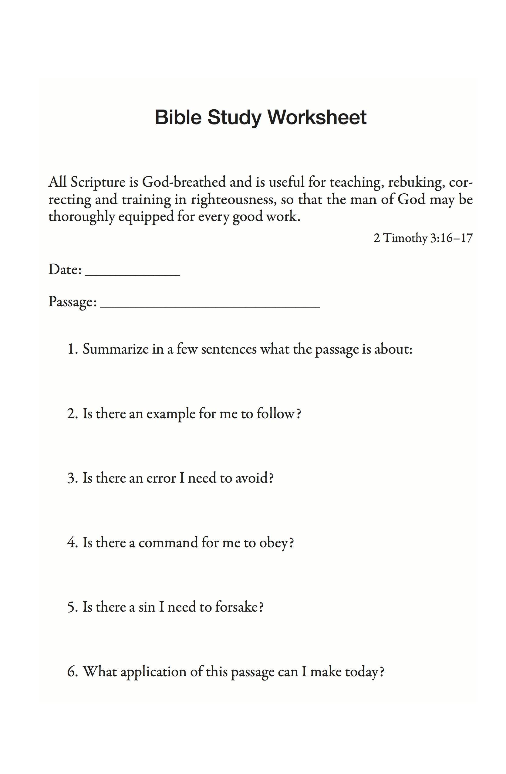 Worksheets Teen Bible Study Adult 3gp Online