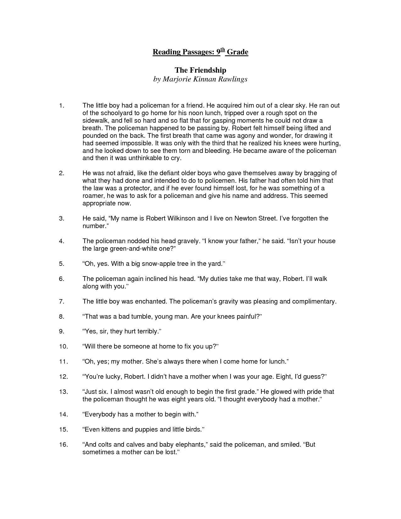 9 Best Images Of Printable 8th Grade Comprehension
