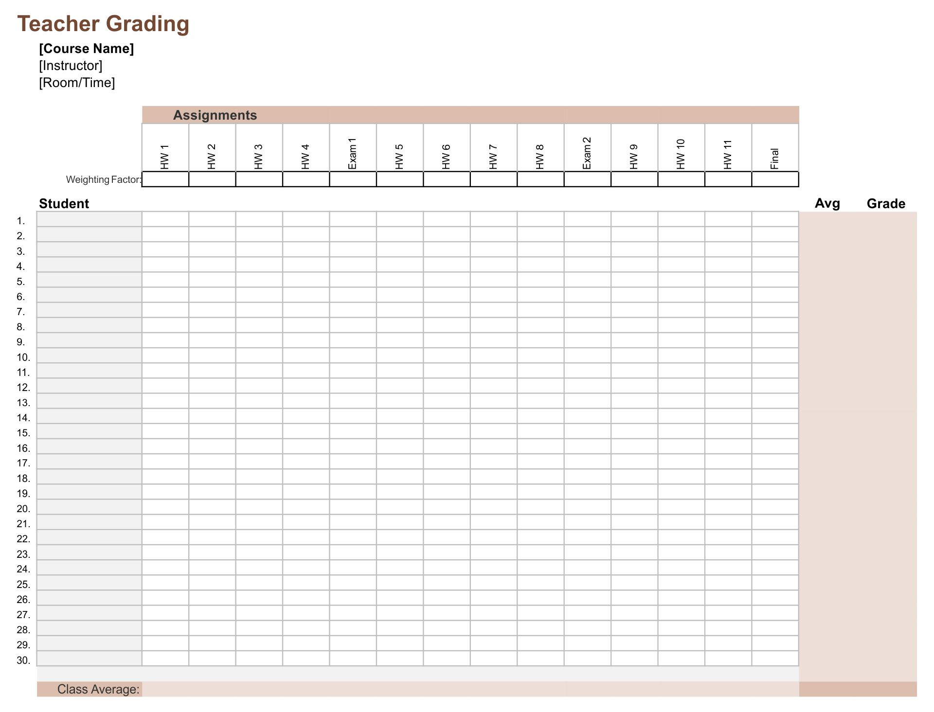 9 Best Images of Printable Grade Sheets For Teachers