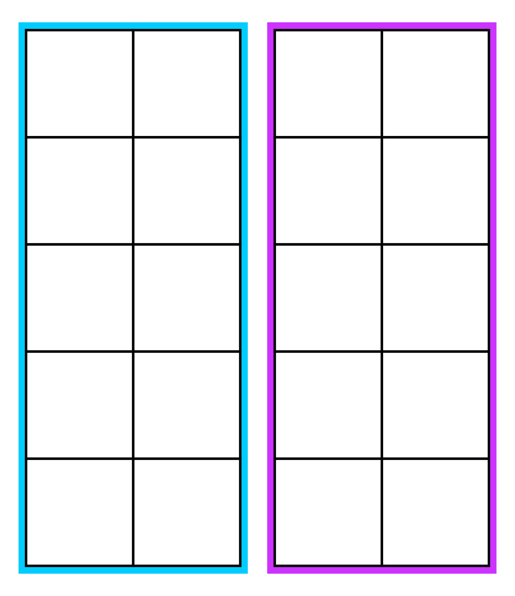 8 Best Images Of Ten Frame Template Printable