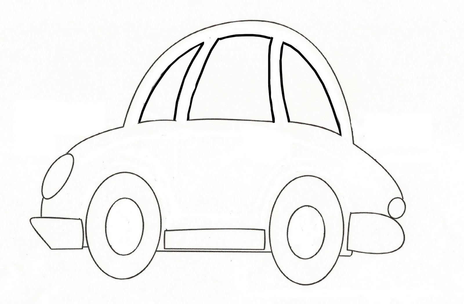 6 Best Images Of Car Template Printable For Kids