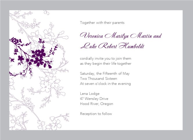 Walk Able Wedding Invite