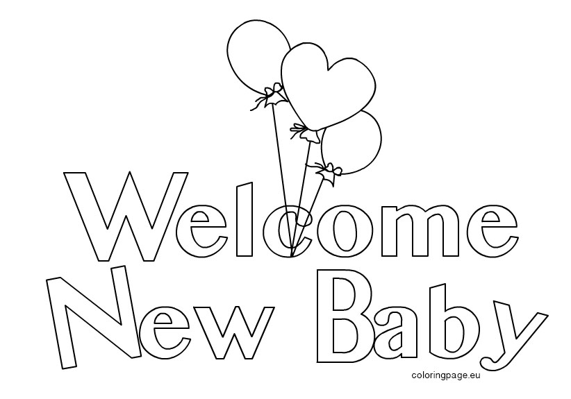 Welcome Sign Page Coloring Pages