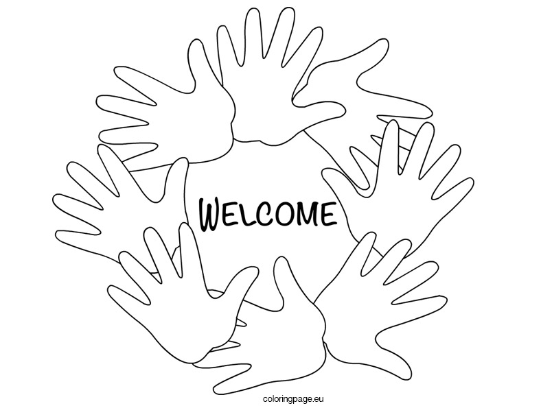 Pages Of Welcome Banners Coloring Pages