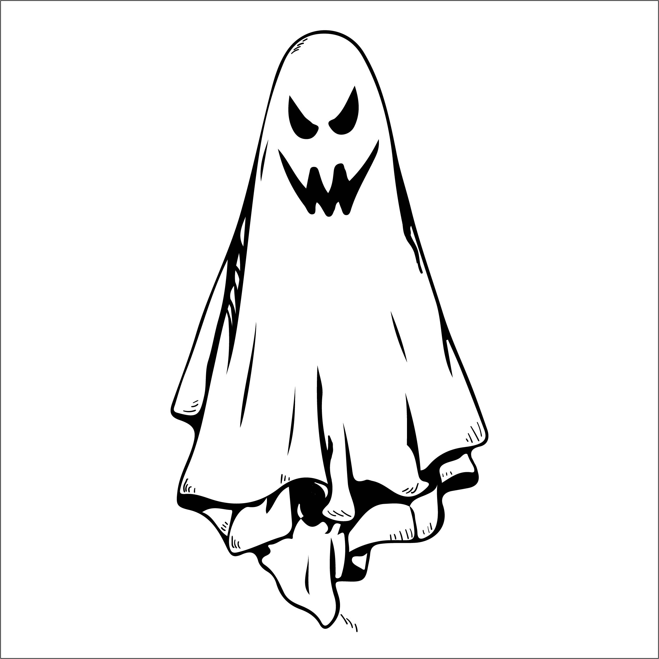 4 Best Images Of Halloween Printable Ghost Template