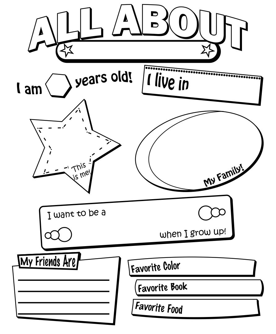 6 Best Images of Free Printable All About Me Form For High